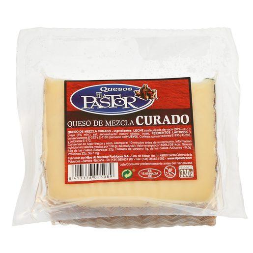 EL PASTOR queso mezcla curado cuña 330 gr