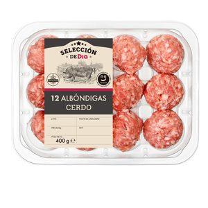 SELECCIÓN DE DIA albóndigas de cerdo bandeja 400 gr