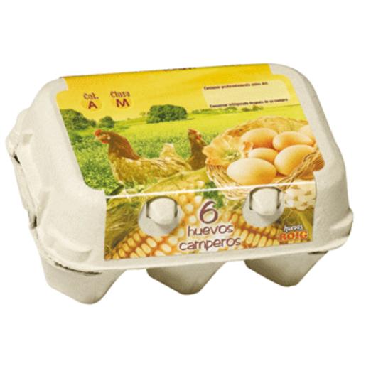 ROIG huevos frescos camperos categoría A clase M estuche 6 uds