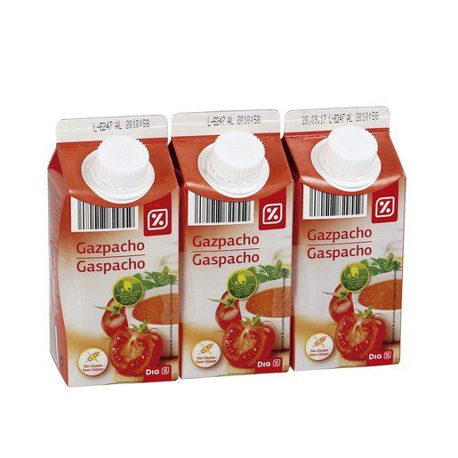 DIA gazpacho refrigerado pack 3 uds 330 ml