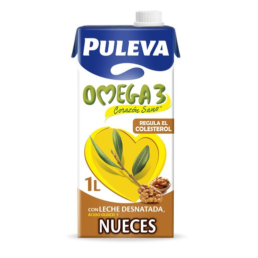 PULEVA leche omega 3 con nueces envase 1 lt
