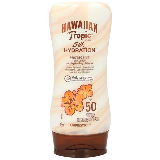 HAWAIIAN TROPIC loción solar protectora silk spf 50 bote 180 ml