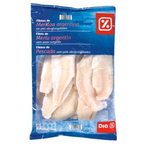DIA filetes de merluza argentina sin piel bolsa 1 Kg