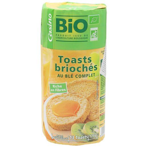 CASINO BIO pan tostado integral redondos paquete 125 gr