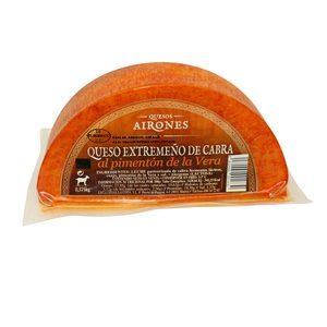 AIRONES queso de cabra con pimentón de la Vera cuña 370 gr