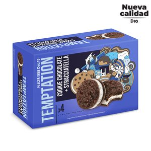 DIA TEMPTATION helado sandwich cookie con stracciatella caja 4 uds 60 gr