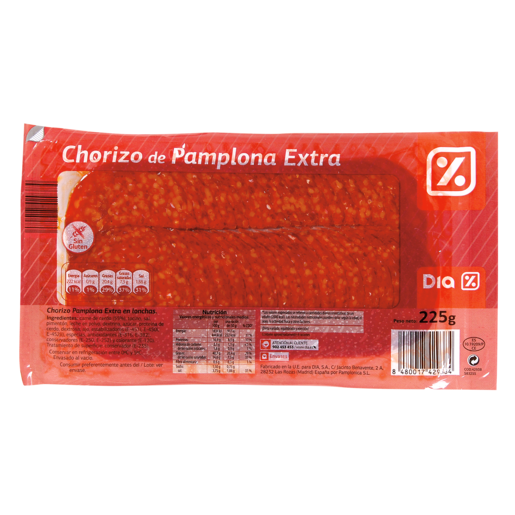 DIA chorizo Pamplona loncheado sobre 225 g
