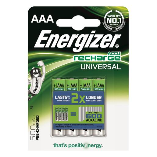 ENERGIZER pilar AAA 700 recargables blister 4 uds
