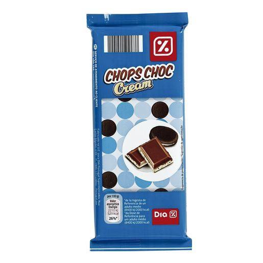 DIA chops choc chocolate con leche relleno de crema con galleta tableta 130 gr