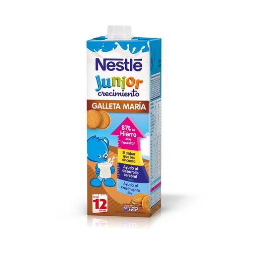 NESTLE leche crecimiento 1+ con galletas maría envase 1 lt