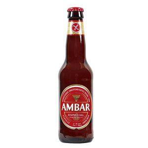 AMBAR cerveza especial SIN GLUTEN botella 33 cl