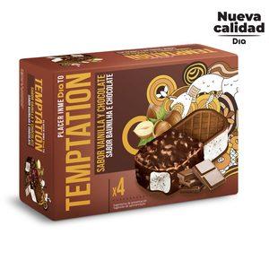 DIA TEMPTATION helado sandwich maxi duo caja 4 uds 100 gr