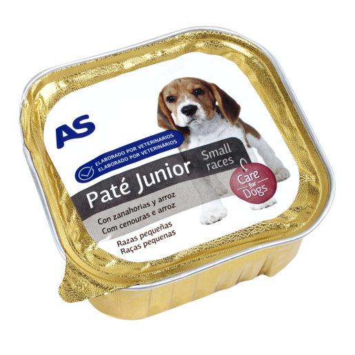 AS alimento para perros junior con carne tarrina 150 gr