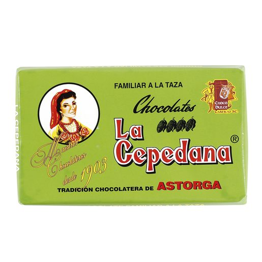LA CEPEDANA chocolate a la taza tableta 300 gr