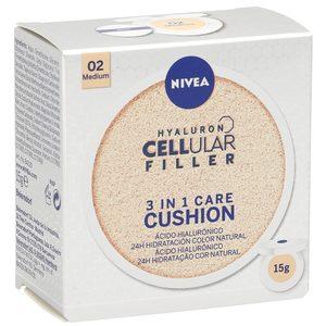NIVEA Cellular hyaluron filler crema con color 3 en 1 tono medio 15 gr