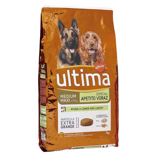 ULTIMA alimento para perros medianos apetito voraz bolsa 7 Kg
