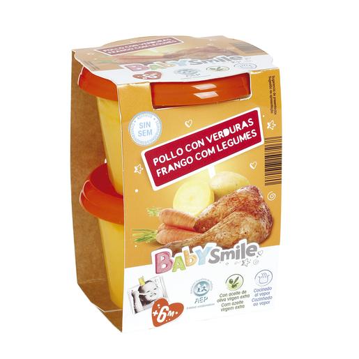 BABYSMILE pollo con verduras tarrito 2x200 gr