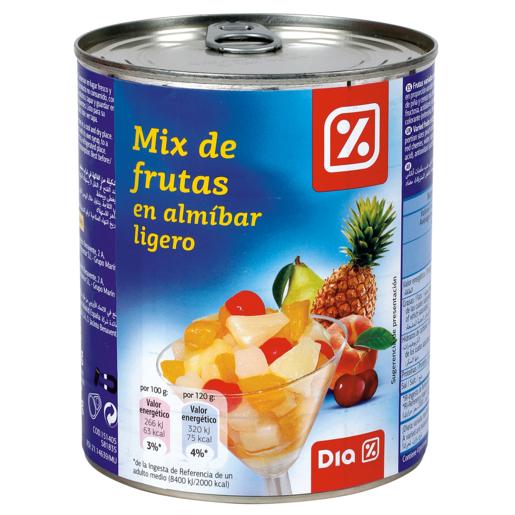 DIA mix de frutas en almibar ligero lata 480 gr