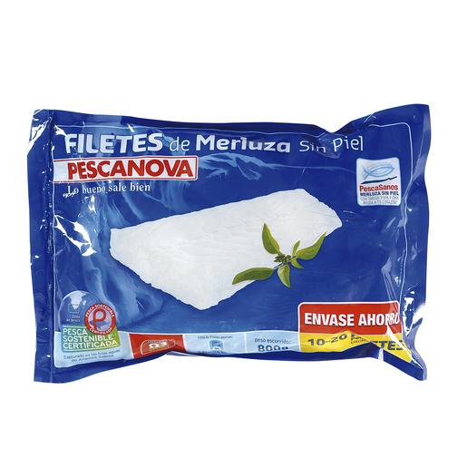 PESCANOVA filetes de merluza sin piel bolsa 800 gr