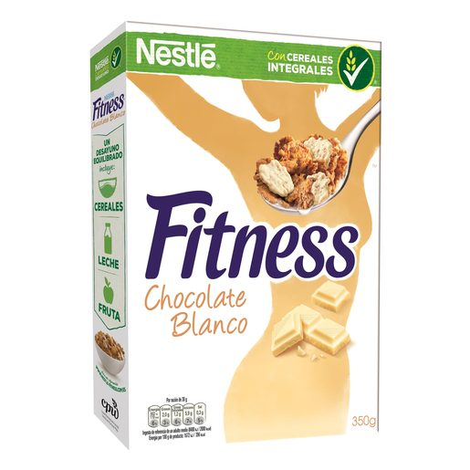 NESTLE cereales fitness chocolate blanco paquete 350 gr