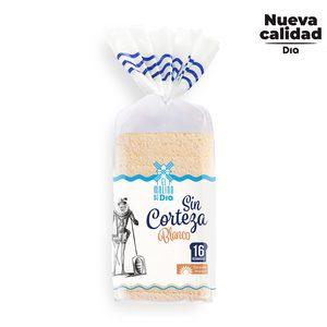 EL MOLINO DE DIA pan de molde blanco sin corteza bolsa 450 gr