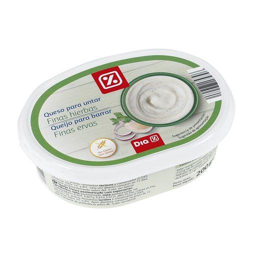 DIA queso para untar finas hierbas tarrina 200 gr