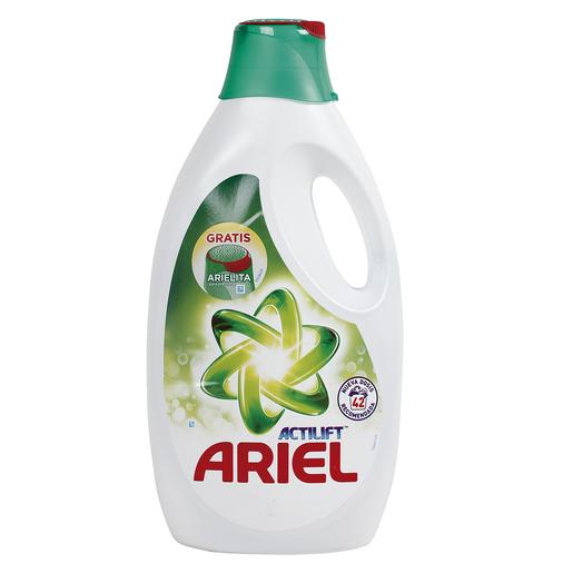 ARIEL Actilift detergente máquina líquido botella 42 lv