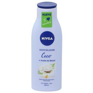 NIVEA aceite en loción coco & monoi piel normal/seca bote 400 ml