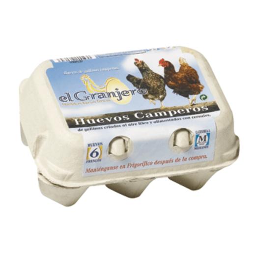 EL GRANJERO huevos camperos categoría A clase M estuche 6 uds