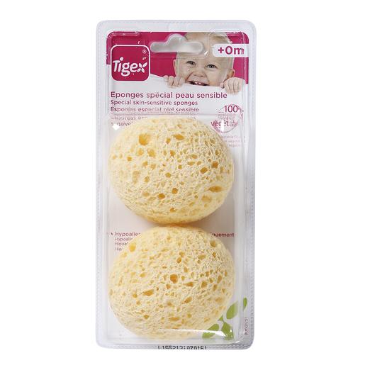 TIGEX esponja natural bebé bolsa 2 uds