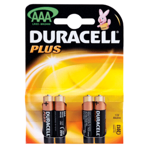 DURACELL pilas AAA pack 4 unidades