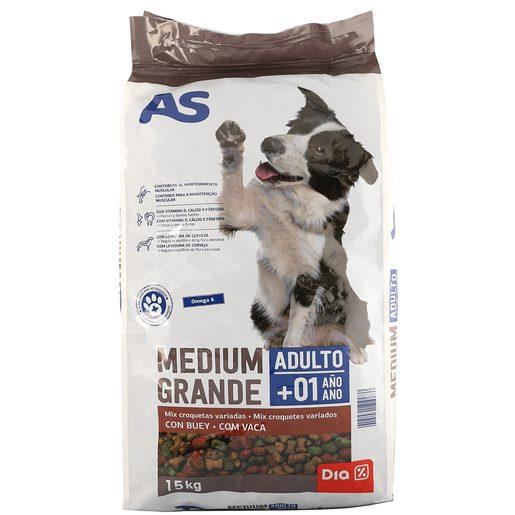 AS alimento para perros adultos mix buey bolsa 15 Kg