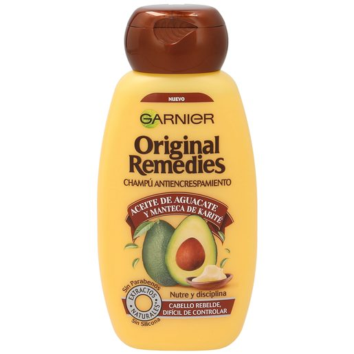 ORIGINAL REMEDIES champú aceite de aguacate/manteca de karité frasco 250 ml