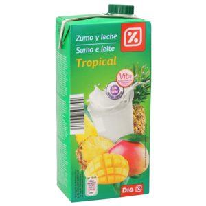 DIA bebida de frutas con leche tropical envase 1 lt