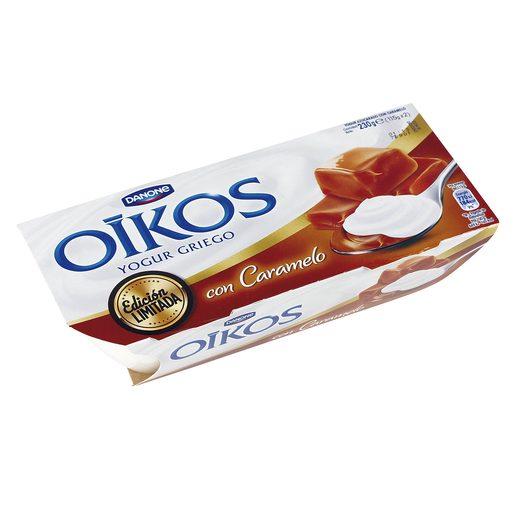 DANONE OIKOS yogur griego con caramelo pack 2 unidades 115 gr