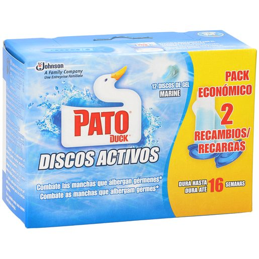 PATO discos activos aroma frescor marino recambio caja 2 uds