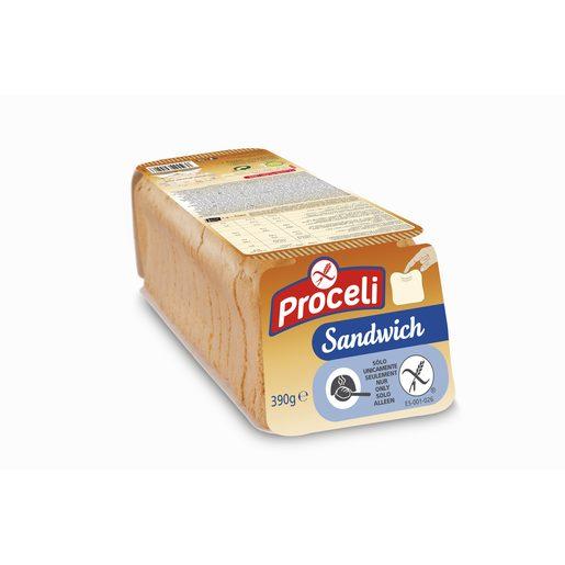 PROCELI pan de molde sandwich SIN GLUTEN envase 390 gr