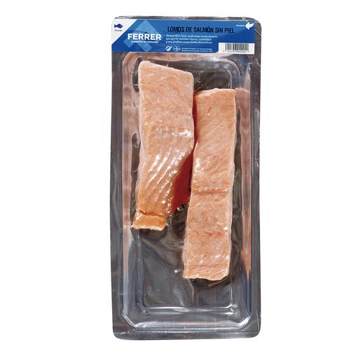 FERRER lomos de salmón sin piel envase 330 gr