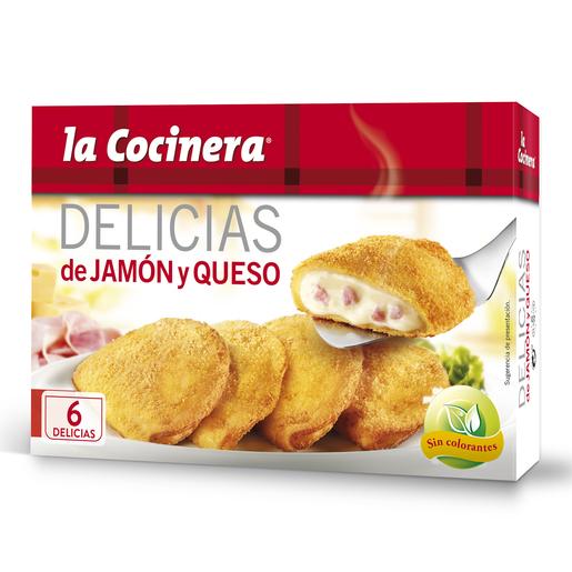 LA COCINERA  delicias de jamón y queso caja 300 gr