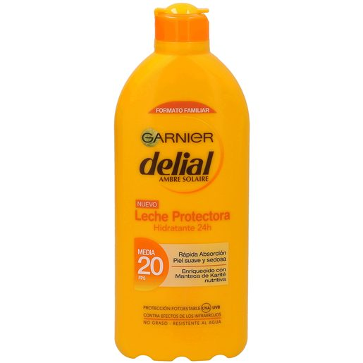 DELIAL Ambre solaire leche protectora solar spf 20 bote 400 ml