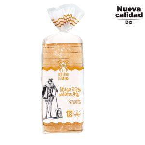 EL MOLINO DE DIA pan de molde rústico bolsa 600 gr