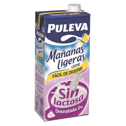 PULEVA leche desnatada sin lactosa envase 1 lt