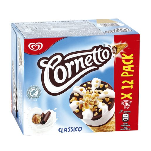 FRIGO helado cornetto clásico caja 12 uds 774 gr
