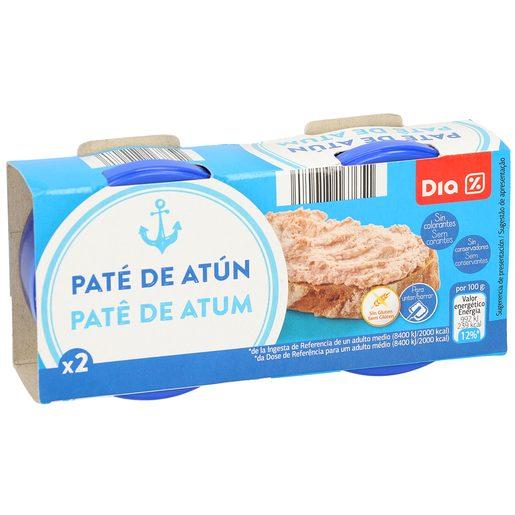 DIA paté de atún pack 2 latas 80 gr