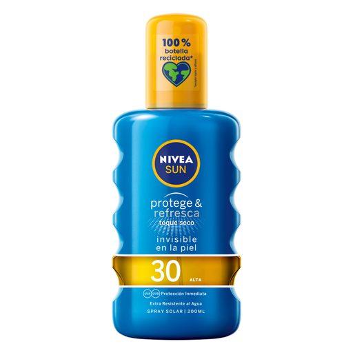 NIVEA Sun protector solar invisible protege&refresca spf 30 spray 200 ml