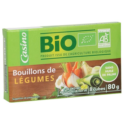 CASINO BIO caldo de verduras estuche 8 pastillas