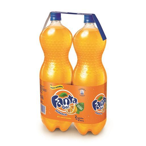 FANTA naranja pack 2 botellas 2 lt