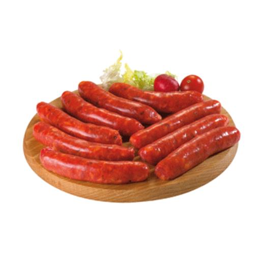 Salchica roja de cerdo bandeja 300 gr
