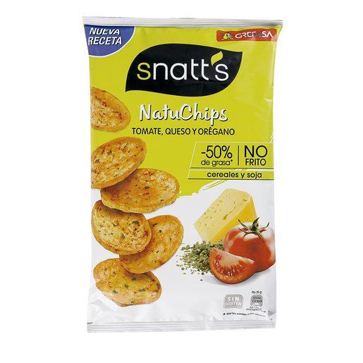 GREFUSA Snatt`s natuchips tomate, queso y orégano bolsa 85 gr