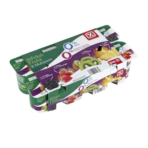 DIA bífidus de ciruela, fresa, kiwi y piña 0% M.G pack 8 unidades 125 gr